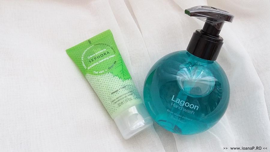 crema exfolianta cu ceai verde si sapun lichid Lagoon Sephora review IoanaPRO
