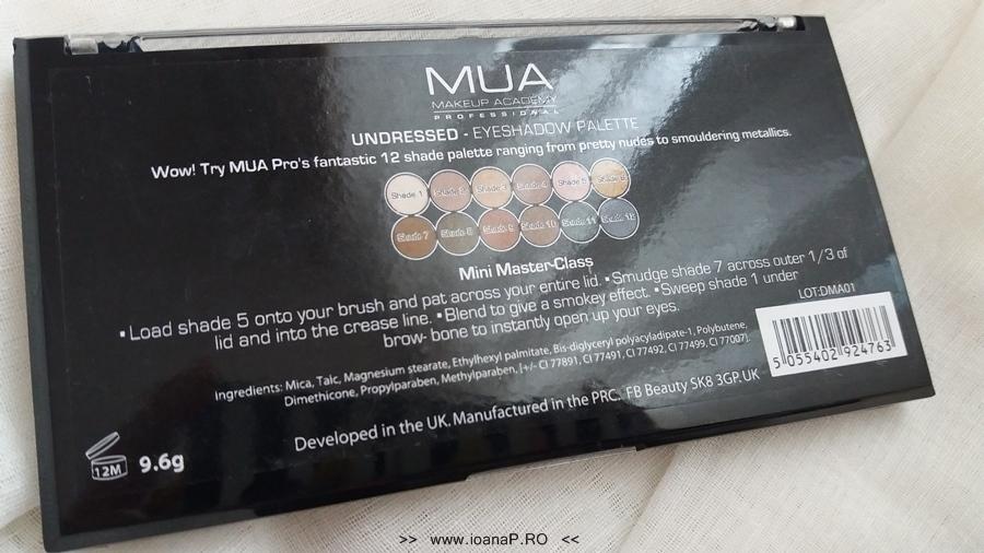 13 Makeup Academy MUA paleta 12 farduri Undressed