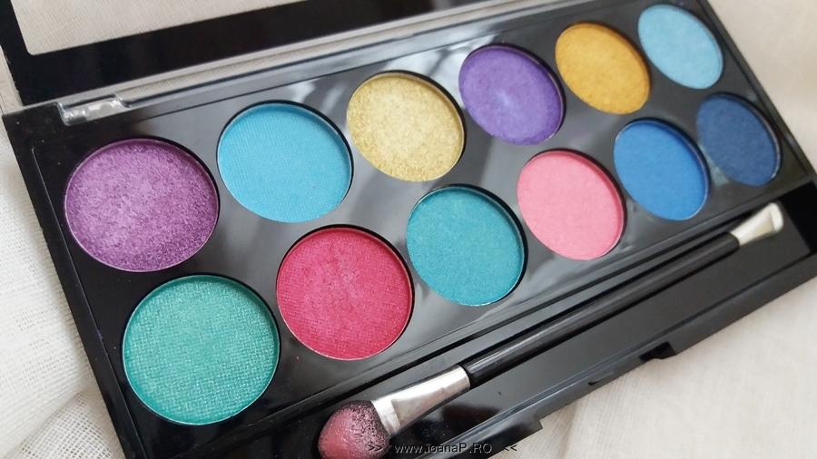14 Makeup Academy MUA paleta 12 farduri Poptastic