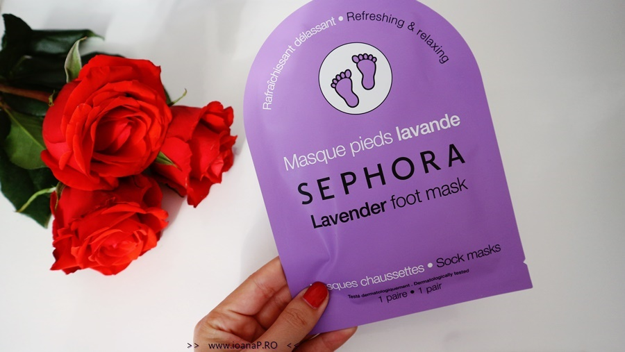 review mască pentru picioare de la Sephora cu lavandă