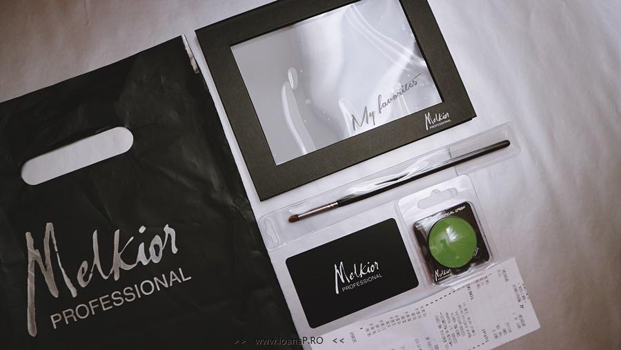 Melkior Professional paletă magnetică pentru farduri pensula blending 14139 fard verde mat