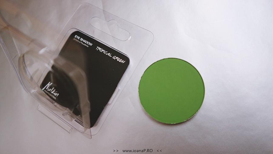 fard verde mat Tropical Green Melkior Professional foto2