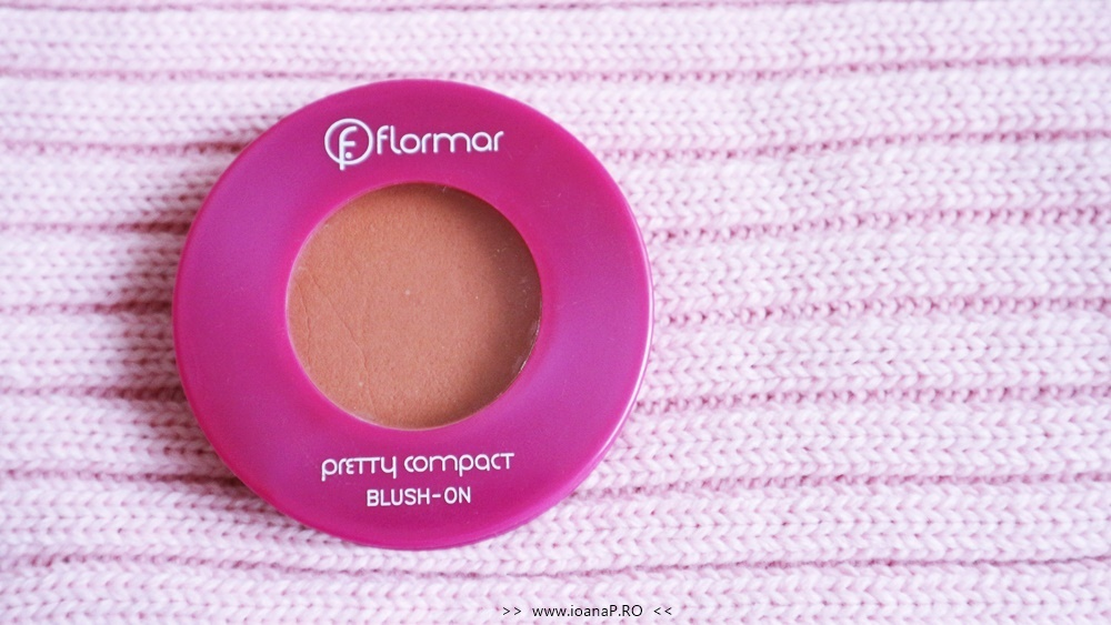 Flormar pretty compact blush-on coral review foto2