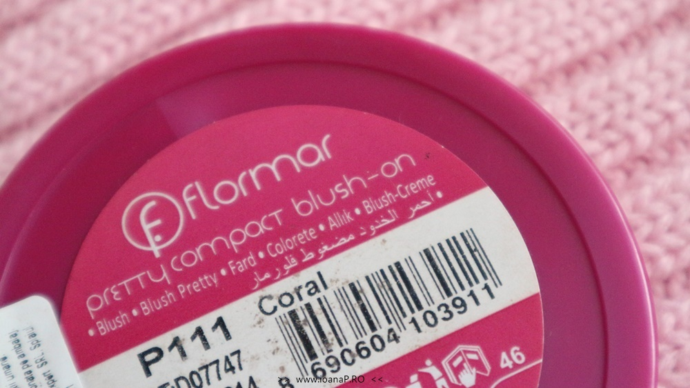 Flormar pretty compact blush-on coral review foto6