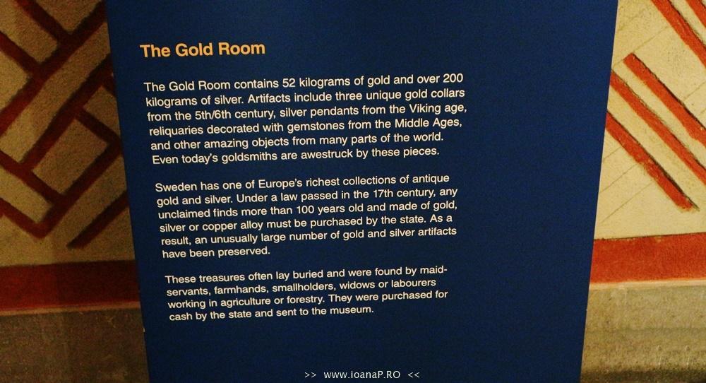 Muzeul de Istorie din Suedia Historiska Museet Guldrummet The Gold Room foto3