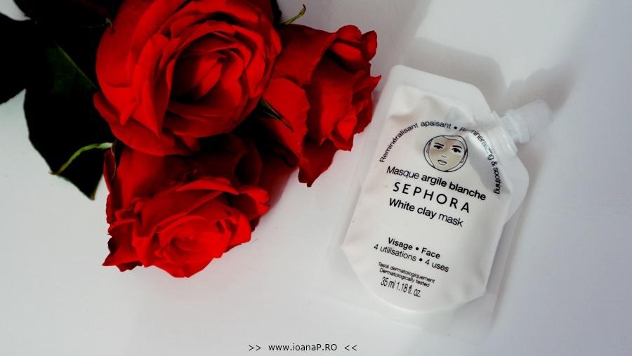 masca de fata cu argila alba Sephora White Clay Mask review foto1