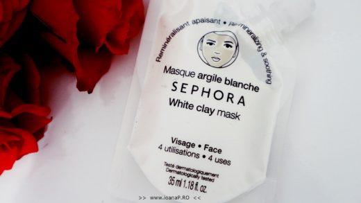 masca de fata cu argila alba Sephora White Clay Mask review foto2