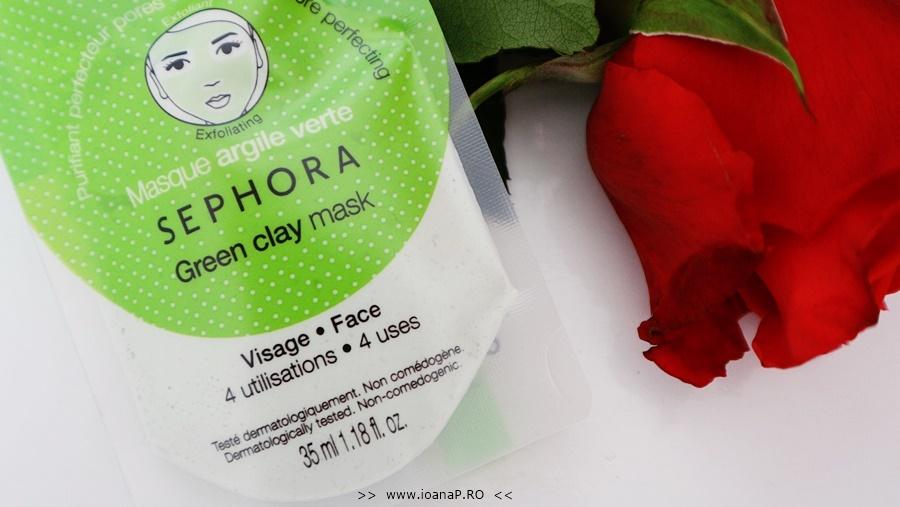 masca de fata cu argila verde Sephora Green Clay Mask review foto2