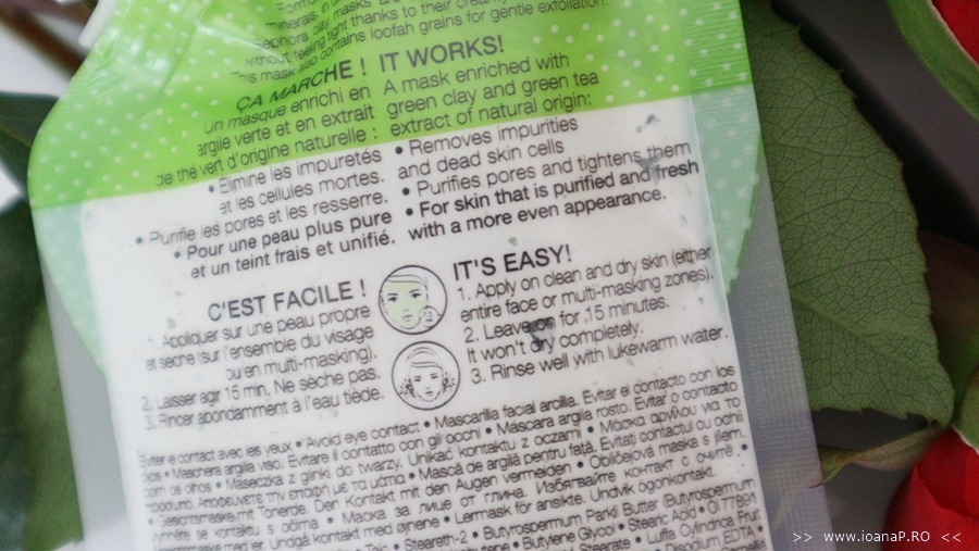 masca de fata cu argila verde Sephora Green Clay Mask review foto3