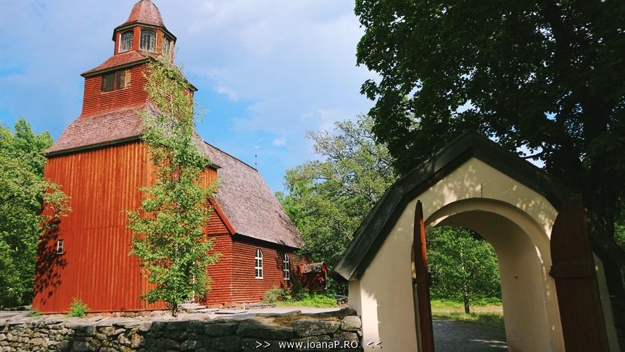 Church from Skansen Stockholm Sweden