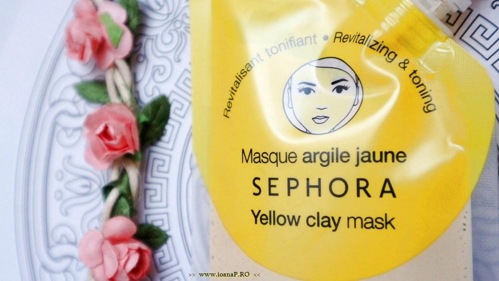 masca de fata Sephora cu argila galbena review