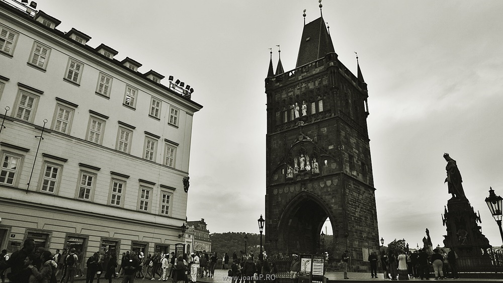 Charles bridge from Prague entrance