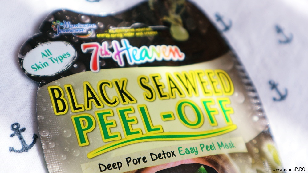 black seaweed peel-off face mask 7th Heaven