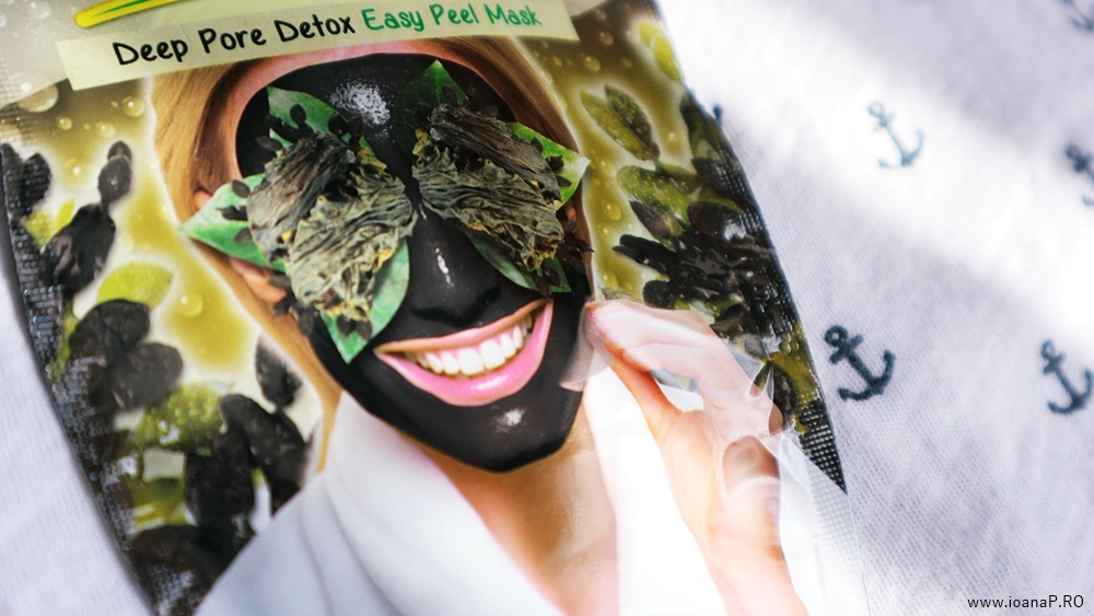 masca detoxifianta Black Seaweed Peel-Off de la 7th Heaven review