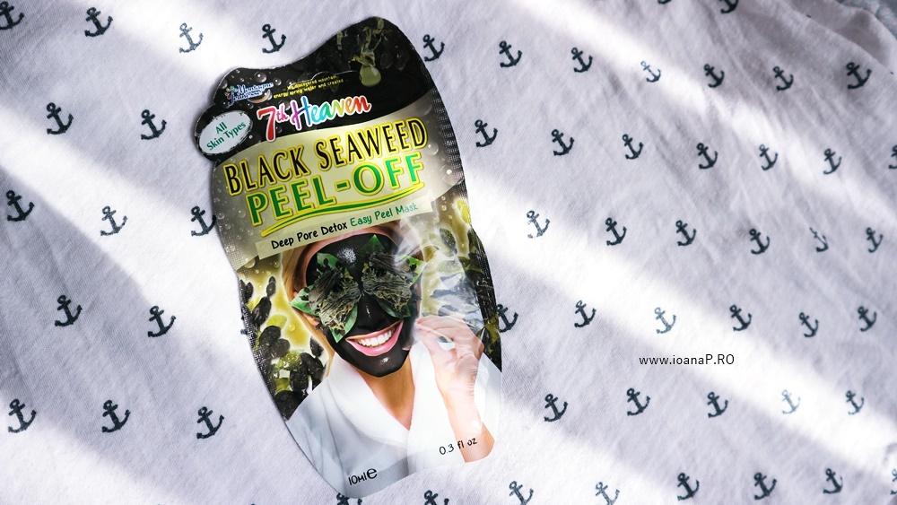 masca detoxifianta Black Seaweed Peel-Off de la 7th Heaven