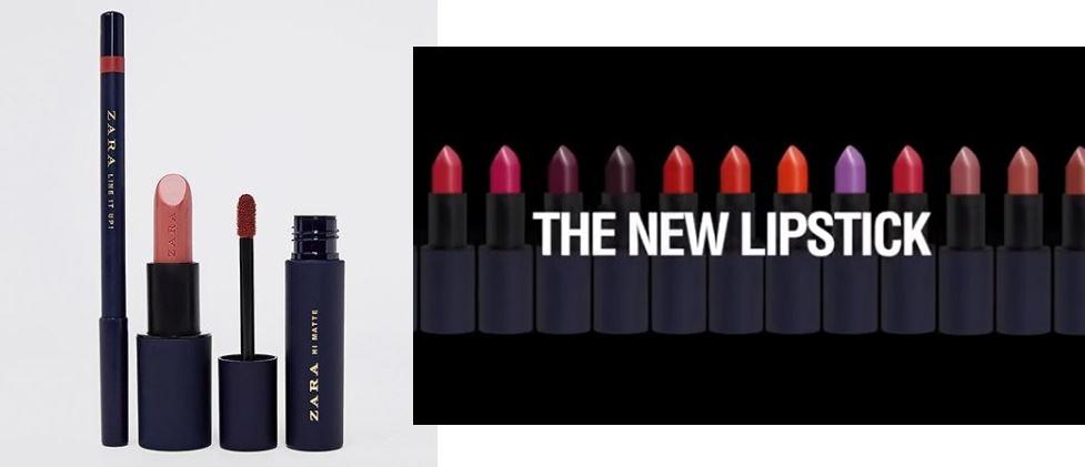 Makeup Zara colectie noua produse pentru buze