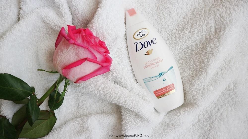 gelul de dus Dove anti-stres cu apa micelara