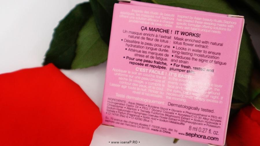 Masca de fata pentru noapte – Sephora Lotus Sleeping Mask info