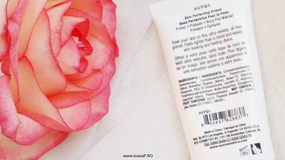 baza pentru machiaj NYX Angel Veil ingrediente