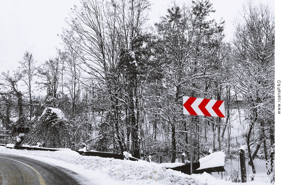 retrospectii 2018, traffic sign, winter