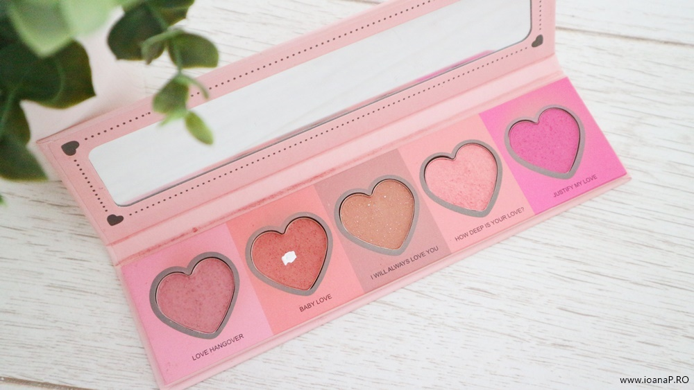 IDC Color Love Flush paleta cu 5 nuante de blush