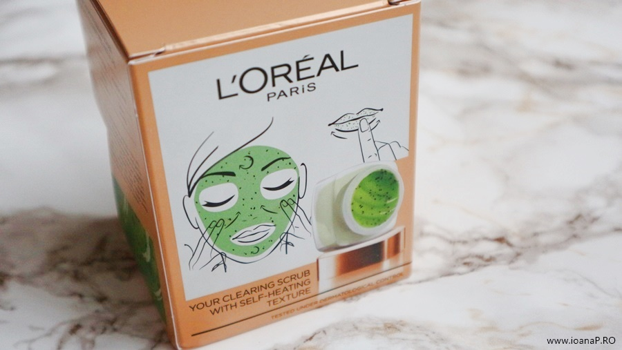 exfoliant facial cu kiwi L'Oreal Paris Smooth Sugars Clear Scrub foto3