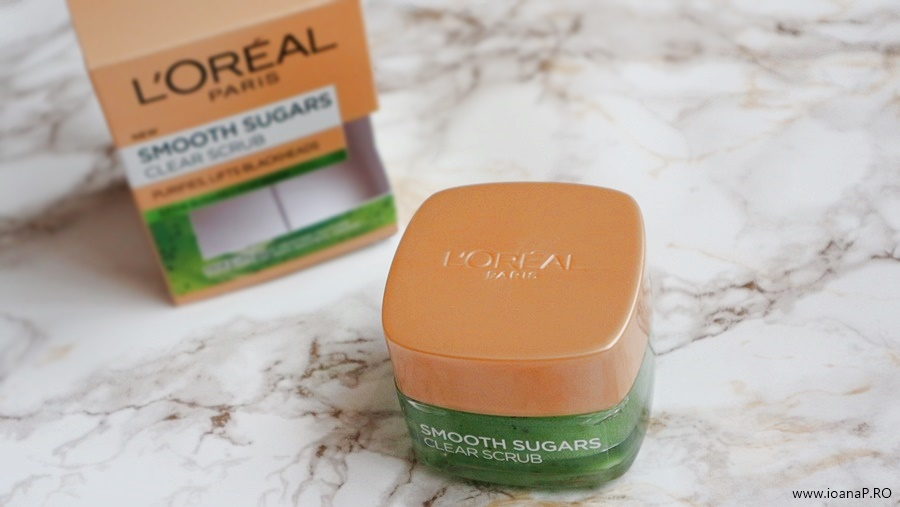 exfoliant facial cu kiwi L'Oreal Paris Smooth Sugars Clear Scrub foto4