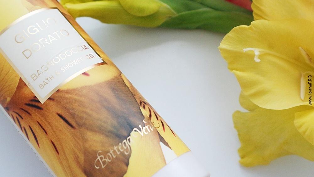gelul de dus cu crin auriu de la Bottega Verde review