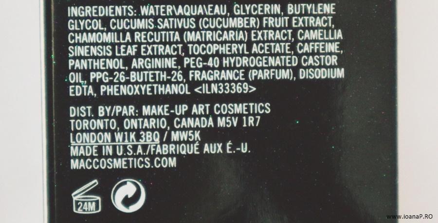 spray pentru fixarea machiajului MAC Prep + Prime Fix+ foto5 lista ingrediente