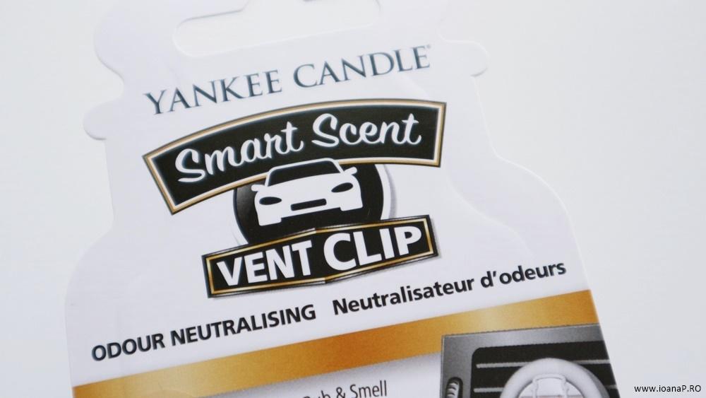 odorizantul auto Vent Clip Yankee Candle