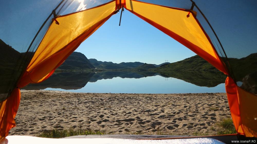 Muntii Scandinaviei Norvegia cu cortul 14